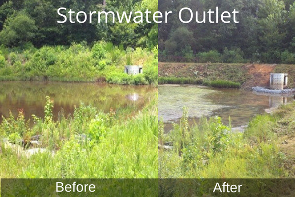 Cleared Stormwater Outlet